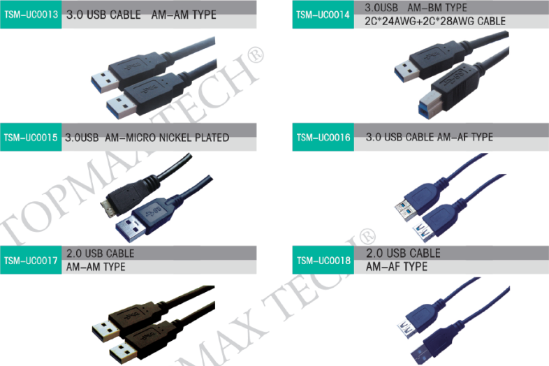 USB 3.0 Cable, USB 3.0 A Male to B Male Cable, Micro USB 3.0 Cable